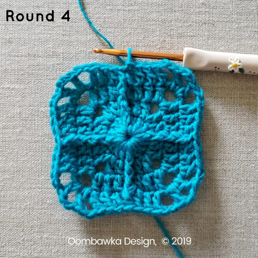 Round 4 Sweet and Simple Afghan Square Pattern Oombawka Design Crochet