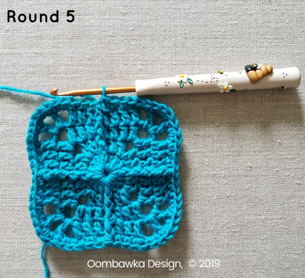 Round 5 Sweet and Simple Afghan Square Pattern Oombawka Design Crochet