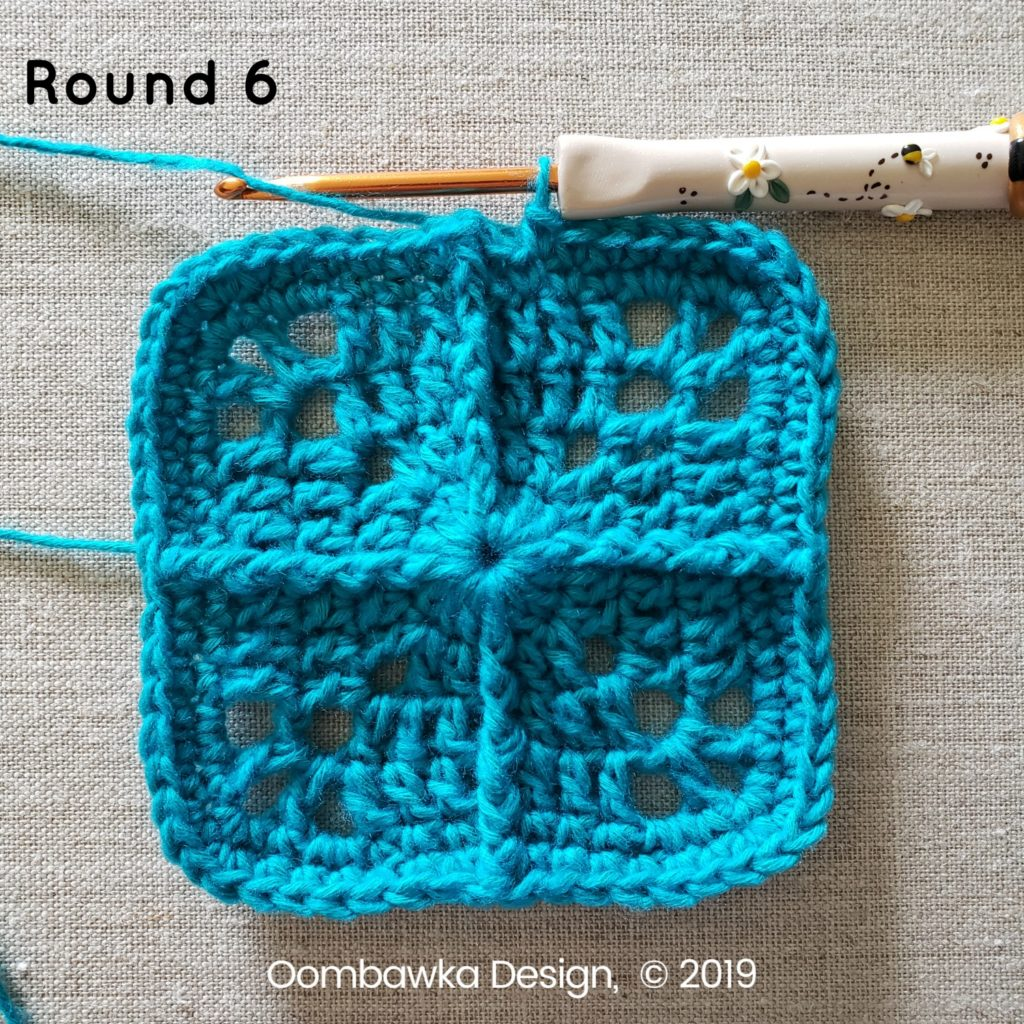 Round 6 Sweet and Simple Afghan Square Pattern Oombawka Design Crochet
