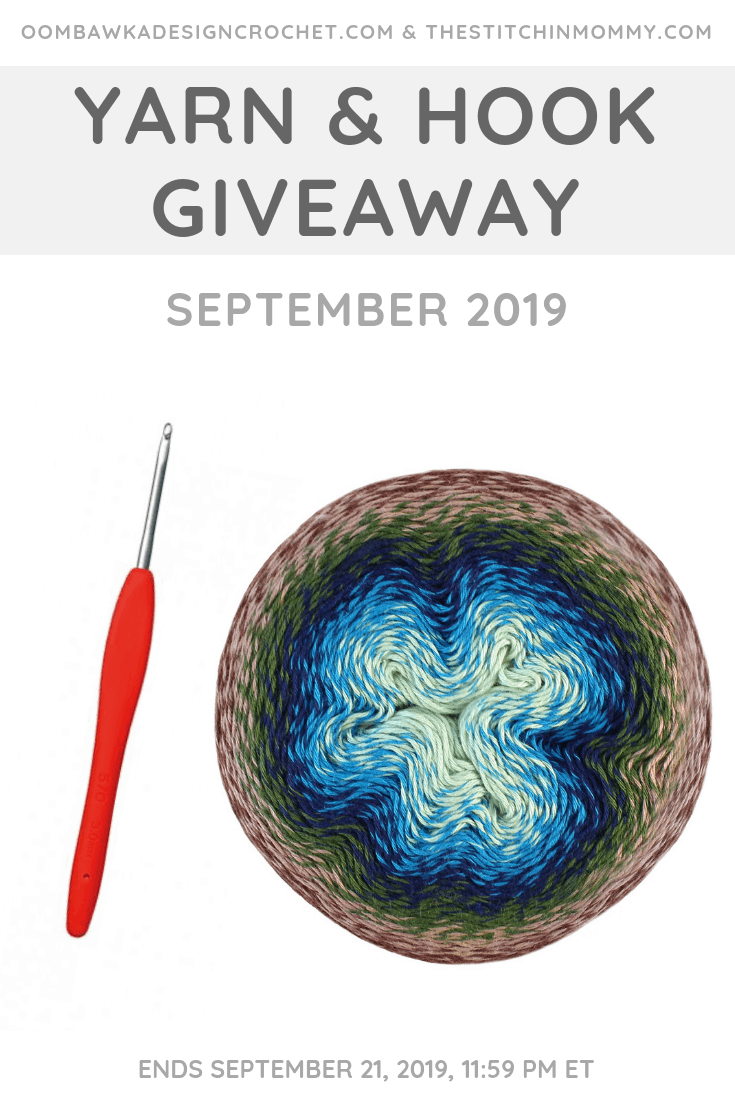 Enter our September Yarn and Hook Giveaway! This month\'s great prize pack includes Scheepjes Whirl and a Clover Amour Hook. Giveaway open worldwide where allowed by law. Void in Quebec. Giveaway ends September 21, 2019 at 11:59 pm ET. #giveaway #contest #yarn #crochet #Scheepjes #Clover #KnottyHouse