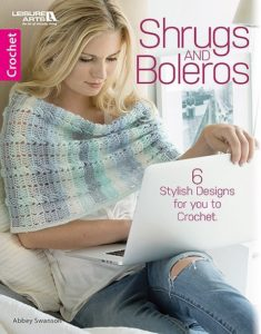 Cover. Shrugs and Boleros from Leisure Arts Book Review by Oombawka Design Crochet