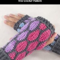 Featured at Wednesday Link Party 312: Stained Glass Fingerless Gloves. Free Crochet Pattern.