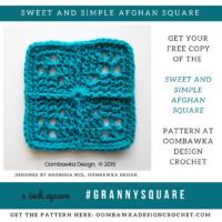 Sweet and Simple Afghan Square Pattern by Rhondda Mol at Oombawka Design Crochet
