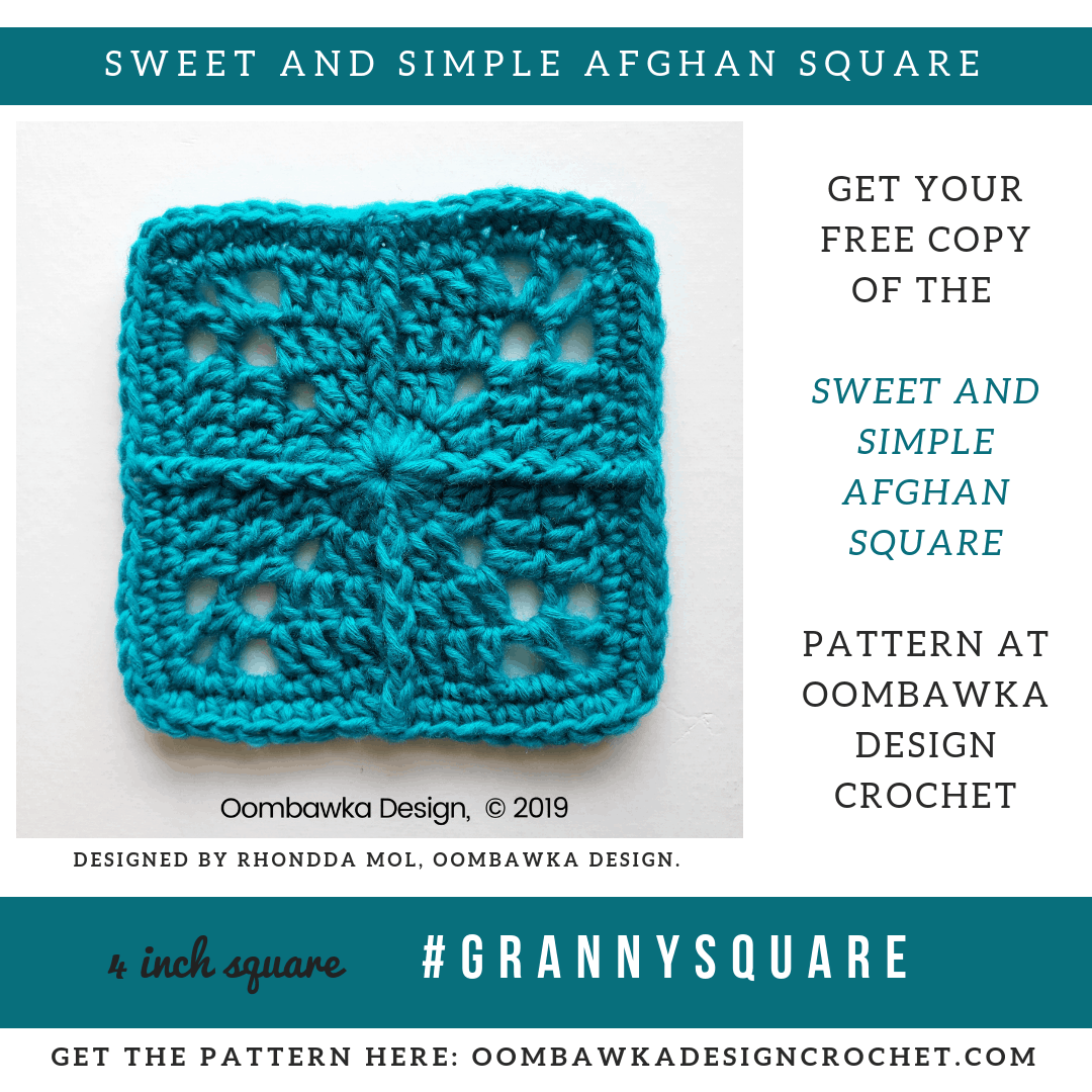 Sweet and Simple Afghan Square Pattern • Oombawka Design Crochet
