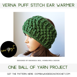 Verna Puff Stitch Earwarmer Pattern New Oombawka Design Crochet
