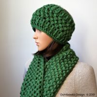 Verna Puff Stitch Infinity Scarf and Puff Stitch Earwarmer Pattern Set Oombawka Design Crochet 2