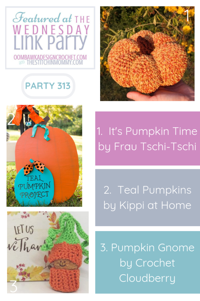 Wednesday Link Party 313 Features Pumpkins DIY and Crochet