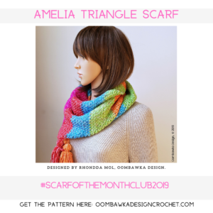 Amelia Triangle Scarf Pattern Oombawka Design Crochet October Scarf of the Month Club