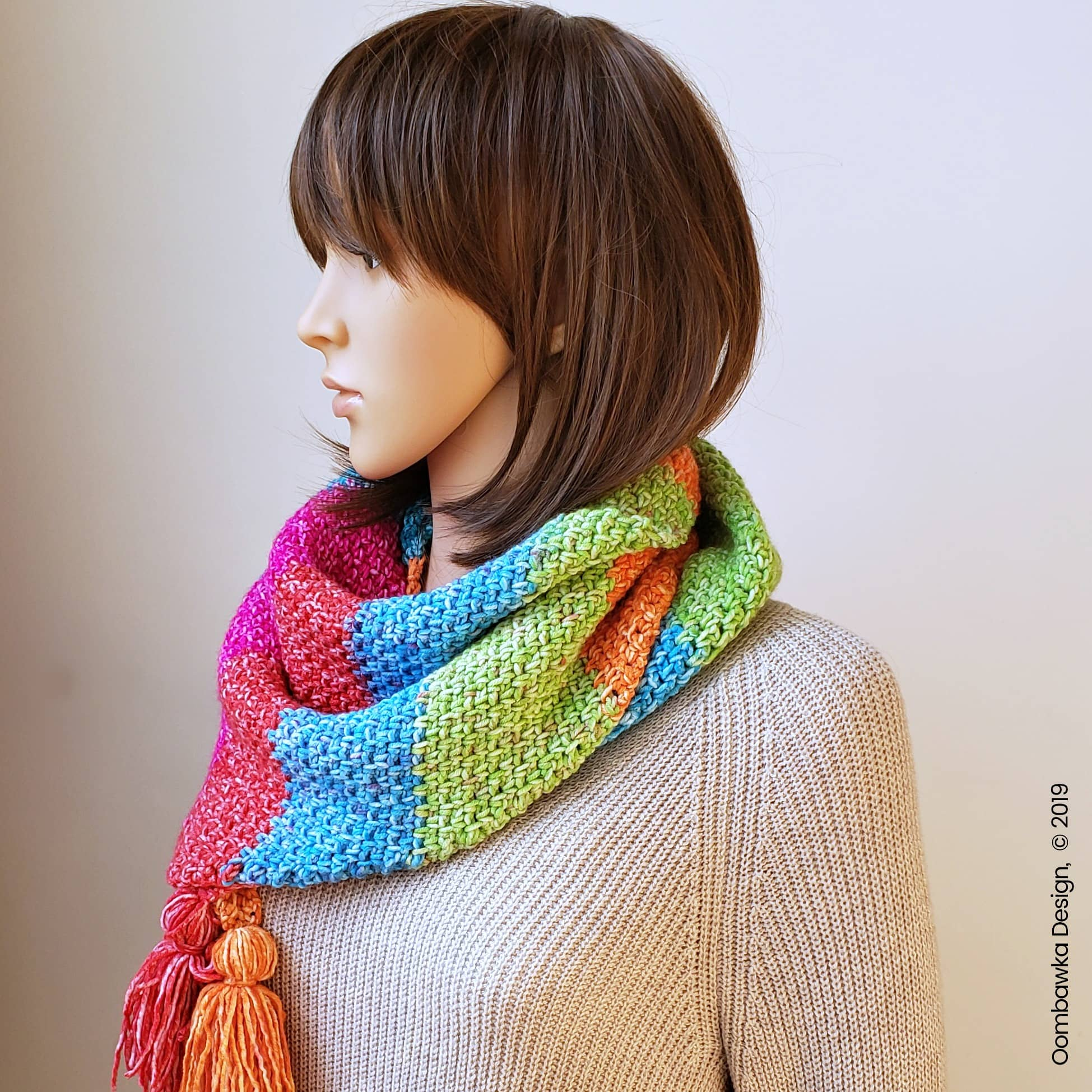 Amelia Triangle Scarf Pattern Oombawka Design Crochet