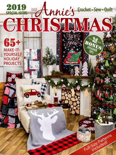 Get ready for the holidays with Annie\'s Christmas Special 2019! This Special Edition includes 65+ Holiday Projects and Patterns!