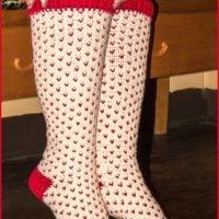 Fair Isle Knee High Socks Pattern