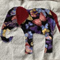 Featured at Wednesday Link Party 315 Applique Elephants Quilt Block from My Bijou Life