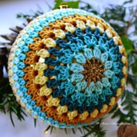 Featured at Wednesday Link Party 315 Large Christmas Bauble by Marie Lucienne