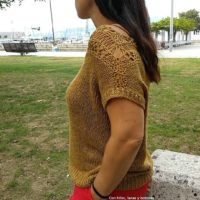 Featured at Wednesday Link Party 315 Satawal Tee - With threads, wool and buttons