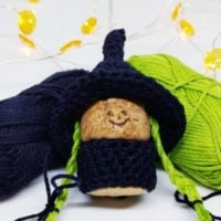 Featured at Wednesday Link Party 317 Cork Witch from Crochet Cloudberry