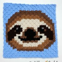 Featured at Wednesday Link Party 317 Sloth C2C Square from My Hobby Is Crochet