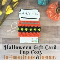 Halloween Gift Card Cup Cozy Pattern