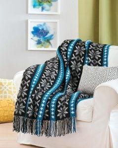 Nordic Snowflake Pattern. Crochet Afghan Revival Cover