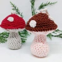Toadstool Holiday Ornament by Crochet Cloudberry Featured at Wednesday Link Party 318