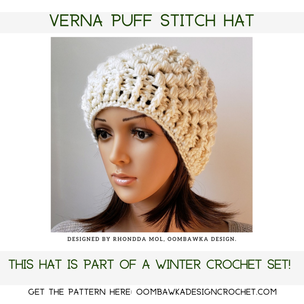 Verna Puff Stitch Hat Pattern by Oombawka Design Crochet
