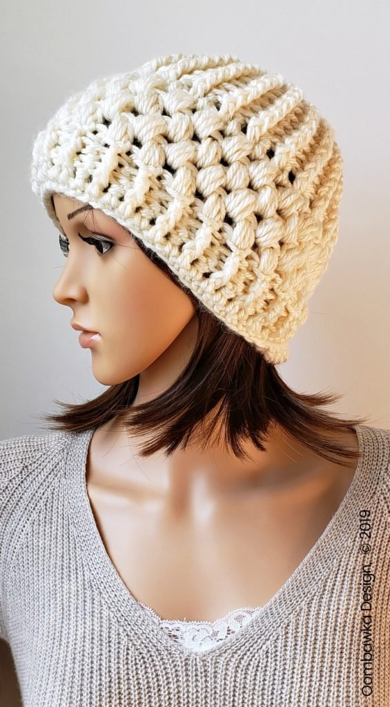 Verna Puff Stitch Hat Pattern by Rhondda Mol Oombawka Design Crochet 2019