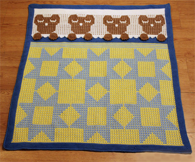 Nite Nite Teddy Bear Afghan ePattern Review at Oombawka Design Crochet