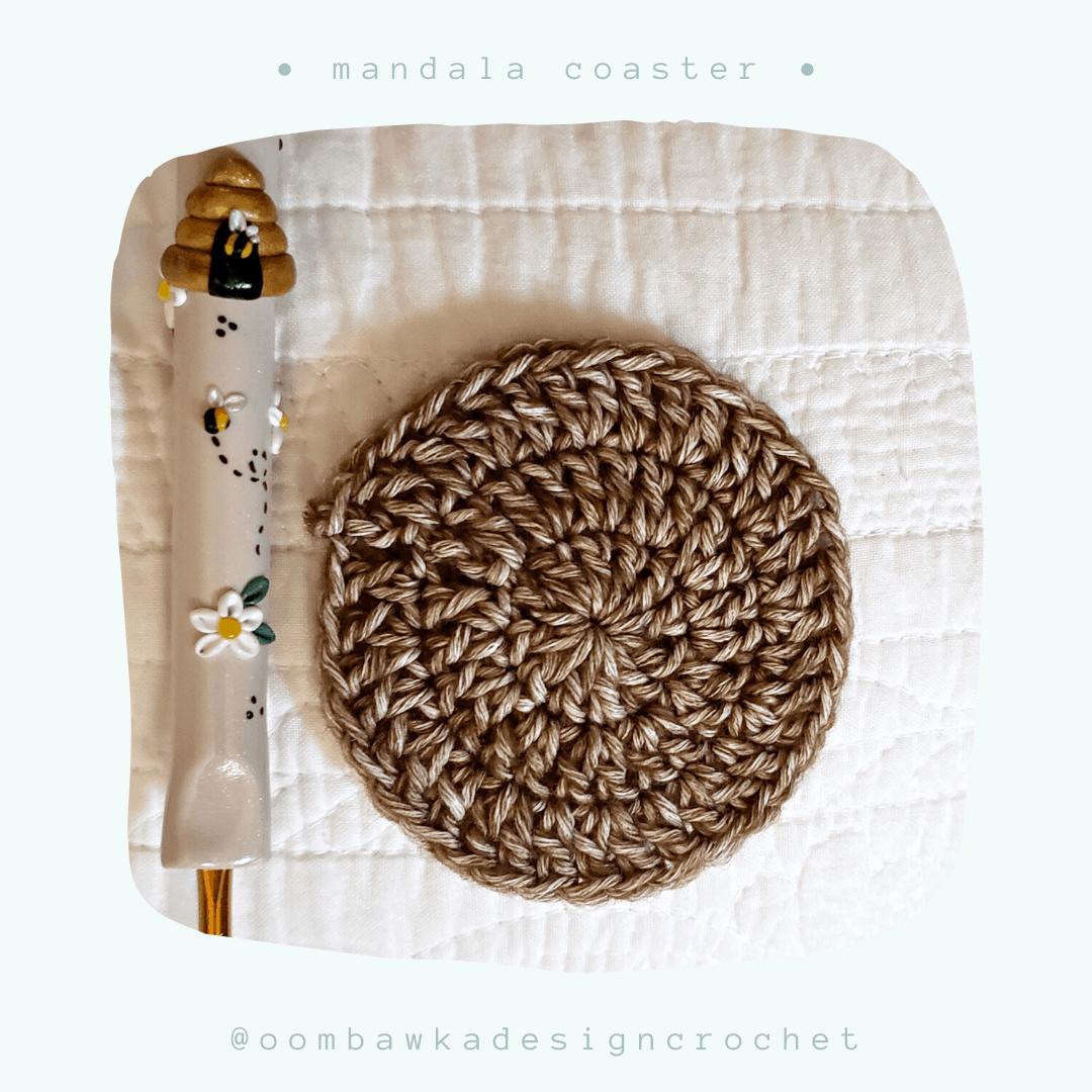 Free Mandala Crochet Coaster Pattern from Oombawka Design