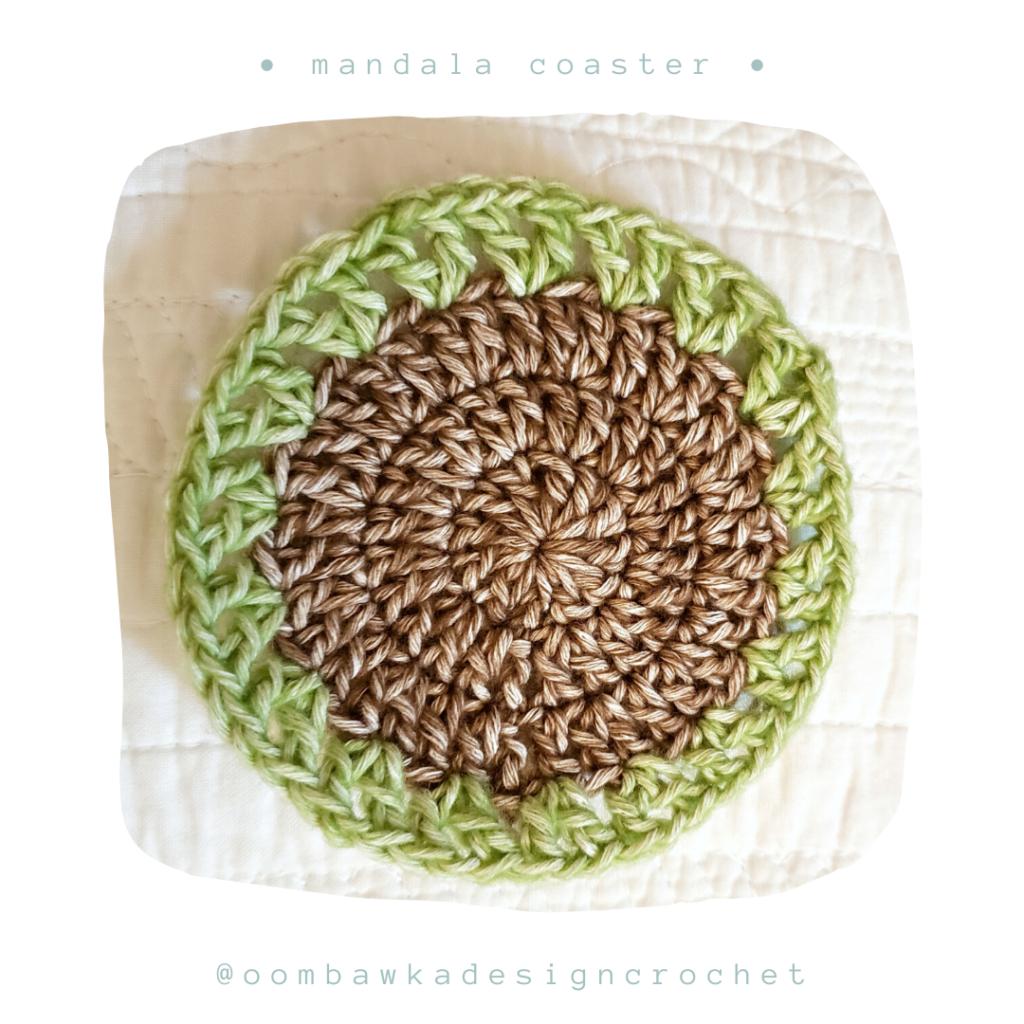 Round 4 Free Mandala Crochet Coaster Pattern from Oombawka Design