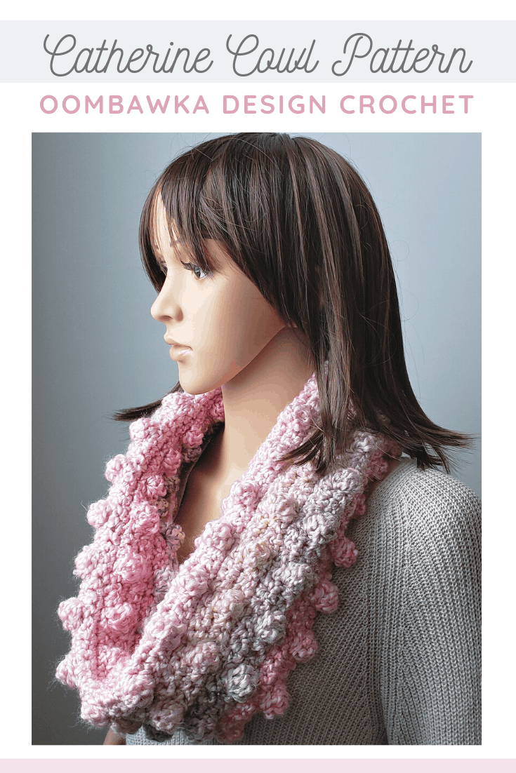 Catherine Cowl Pattern. Scarf of the Month Club November 2019