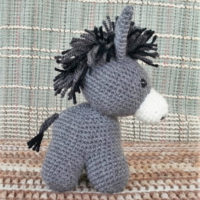 Featured at Wednesday Link Party 321 Donkey Crochet Pattern by haekelfieber austria