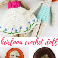 Featured at Wednesday Link Party 321 is How to Make a Heirloom Doll Crochet Pattern by Winding Road Crochet