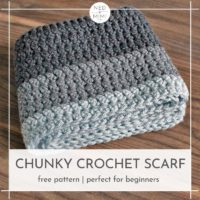 Featured at Wednesday Link Party 321 is the Chunky Crochet Scarf Pattern by Ned and Mimi