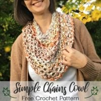 Featured at Wednesday Link Party 323 Simple Chains Cowl Free Pattern