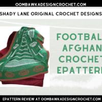 Football Afghan Crochet ePattern from Carol at Shady Lane Original Crochet Designs Cover