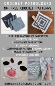 Free Pot holder Crochet Patterns