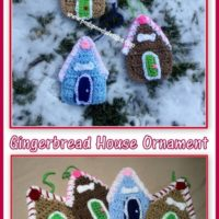 Gingerbread Dog House Christmas Ornament Crochet Pattern Featured at Wednesday Link Party 322