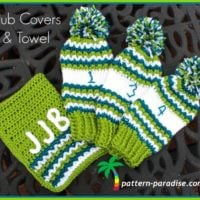 Golf Club Covers and Towel pattern