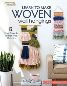 Cover Image for Learn to Make Woven Wall Hangings Leisure Arts Review by Rhondda Oombawka Design Crochet