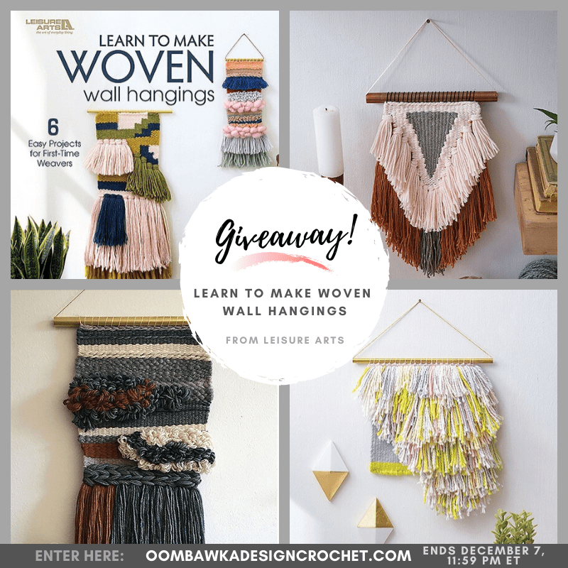 Learn to Make Woven Wall Hangings from Leisure Arts eBook Review and Giveaway by Oombawka Design ends Dec 7 2019 1159 pm et