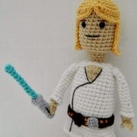 Free Star Wars Crochet Patterns Roundup: Luke Skywalker Crochet Pattern by Amidorable Crochet