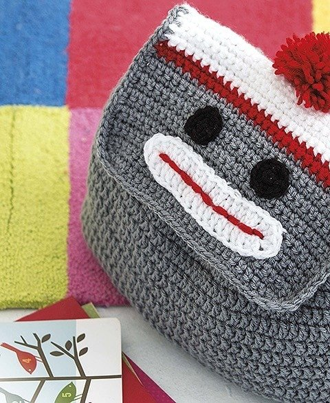 MONKEY Animal Backpacks from Leisure Arts Book Review by Oombawka Design Crochet
