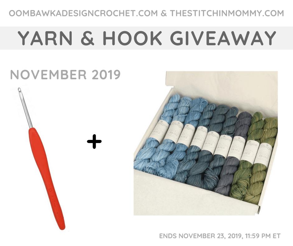 November Yarn and Hook Giveaway OombawkaDesignCrochet