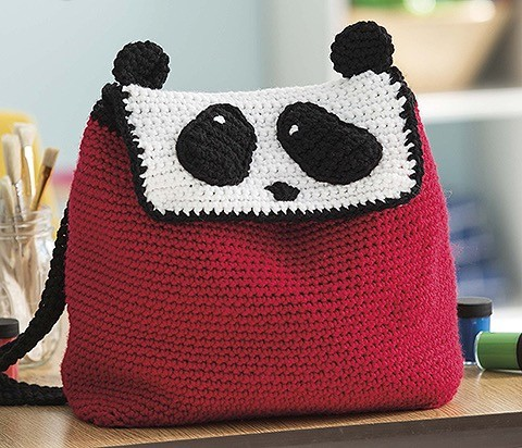 PANDA Animal Backpacks from Leisure Arts Book Review by Oombawka Design Crochet