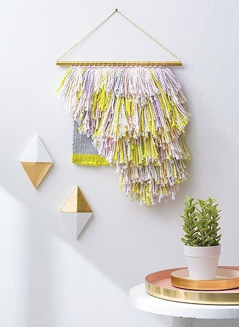 Shaggy Weave Learn to Make Woven Wall Hangings Leisure Arts Review by Rhondda Oombawka Design Crochet