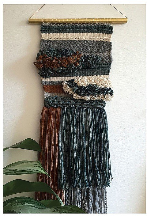 Project Learn to Make Woven Wall Hangings Leisure Arts Review by Rhondda Oombawka Design Crochet