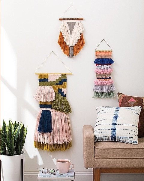 Projects. Learn to Make Woven Wall Hangings Leisure Arts Review by Rhondda Oombawka Design Crochet