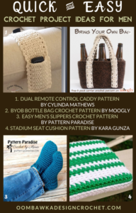 Quick and Easy Crochet Project Ideas for Men - Free Pattern Roundup by OombawkaDesignCrochet