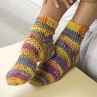Crochet Heart and Sole Socks Pattern