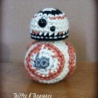 Free Star Wars Crochet Patterns Roundup: Round Orange Droid Free Crochet Pattern
