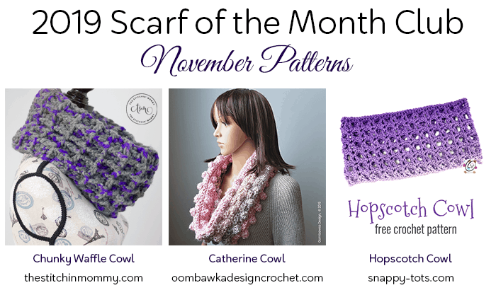 Scarf of the Month Club 2019 November Oombawka Design crochet